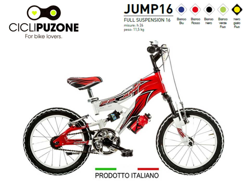BICI 16 JUMP 1V FULL SUSPENSION