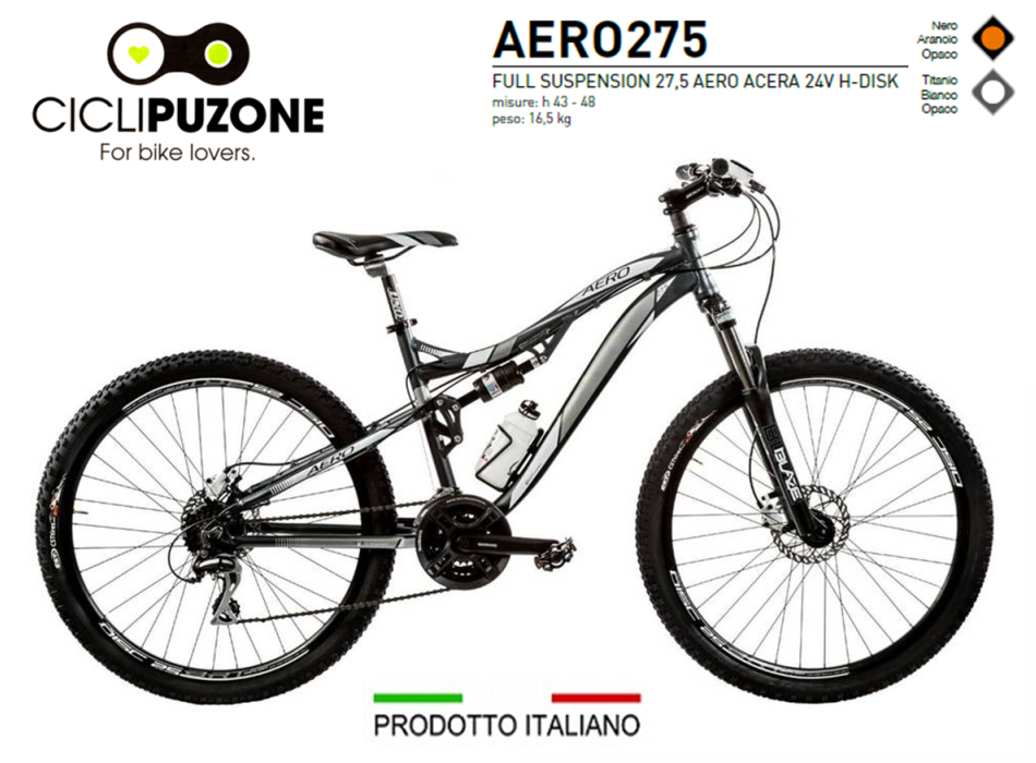 AERO 27.5 ACERA 24V FULL SUSPENSION ALLUMINIO