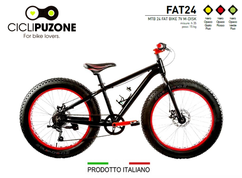 BICI FAT BIKE 24 ALLUMINIO 6V M-DISK