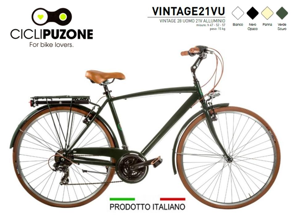 Cilicpuzoneit Cicli Puzone Bici 28 Uomo Vintage 21v Alluminio