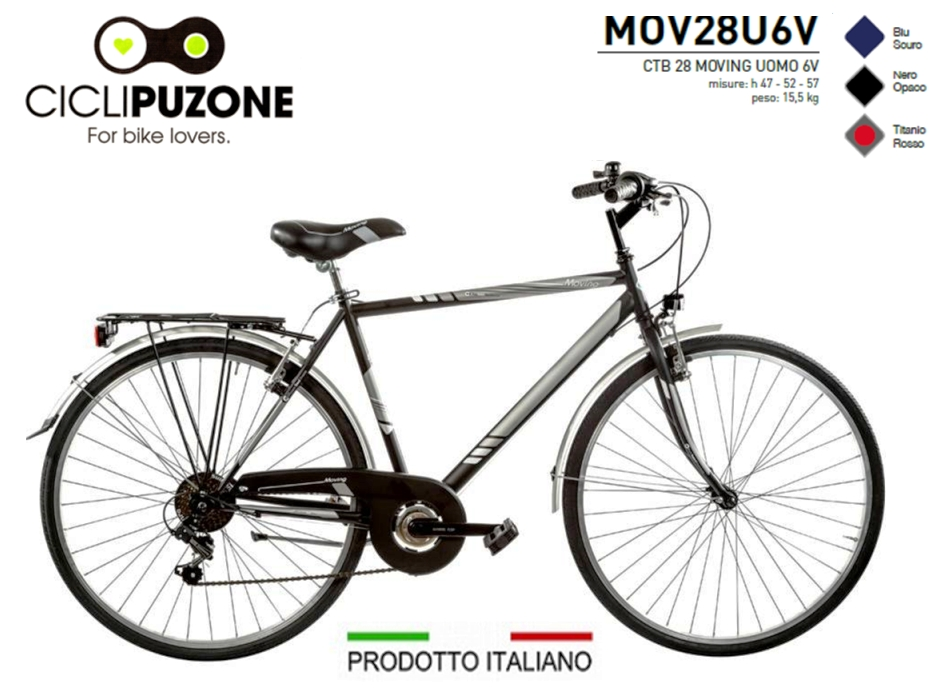 BICI 28 MOVING UOMO 6V