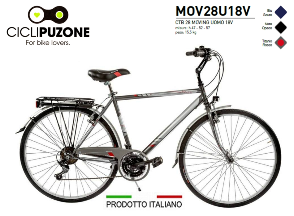 BICI 28 MOVING UOMO 18V