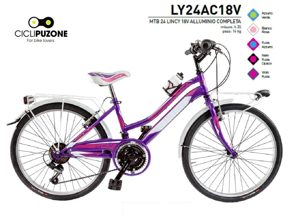 BICI 24 LINCY 18V COMPLETA ALLUMINIO